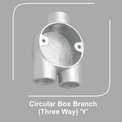 Circular Box Branch Three Way Y