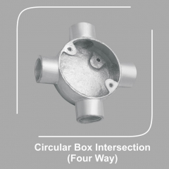 Circular Box Intersection Four Way