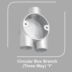 Circular Box Branch Three Way Y